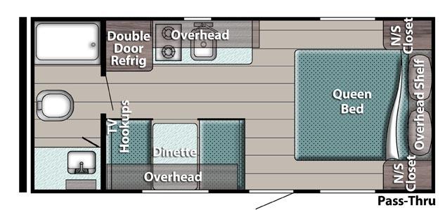 Trailmaster super-lite 189DD floorplan
