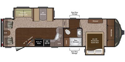 2016_Keystone_Sprinter_269FWRLS floorplan